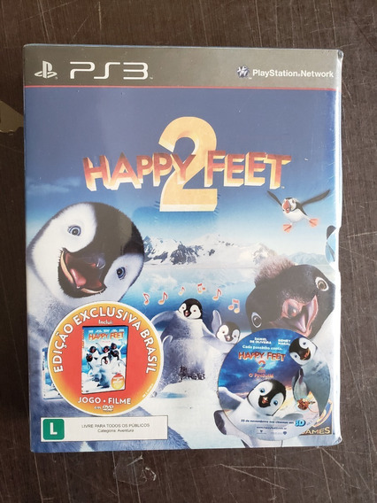 Game Happy Feet 2 + Blu-ray Happy Feet Movie Lacrado Ps3