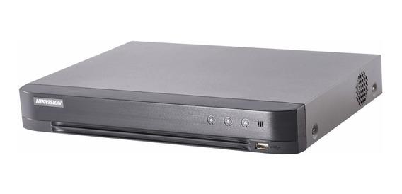 Grabadora Dvr 4 Canales 3mp Hikvision 4k Ultra Hd Audio 7204hqhi