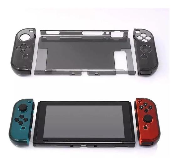 Case Capa Acrílica Nintendo Switch Proteção Queda Anti Risco