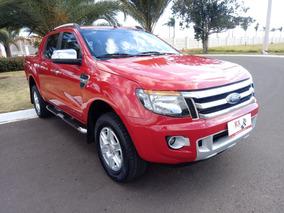 Ford Ranger Limited 3.2 20v 4x4 Aut. Diesel Vermelha 2013