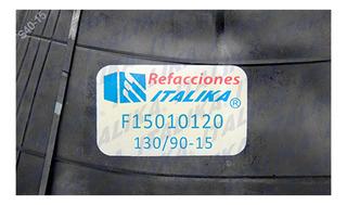 Camara Italika 130/90-15 Tc200 Blanca 2016-2018