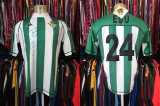Betis 2004 Camisa Titular Tamanho Gg Número 24 Edu.