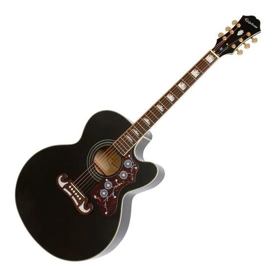Guitarra EpiPhone Electro Acústica Ej-200ce Bk Black