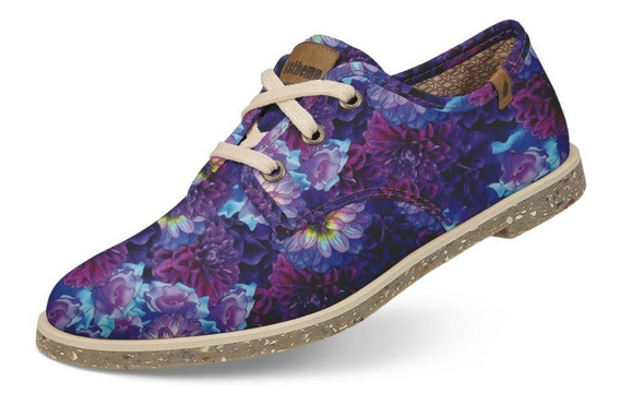 Sapato Usthemp Legend Vegano Casual Estampa Floral