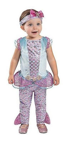 Disfraz Bebe Niña Sirena Traje Sirenita Halloween