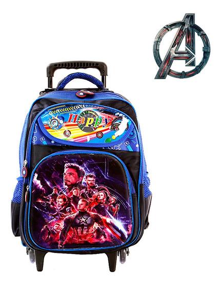 Mochila Escolar Infantil Avengers Ultimato 3d Marvel Com Rod
