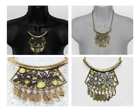 Collar Vintage Mujer Grabado Moda Color Oro Viejo Cc77
