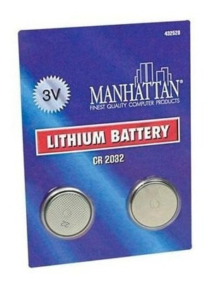 Batería Cmos 3v 2 Piezas Cr 2032 Manhattan 432528