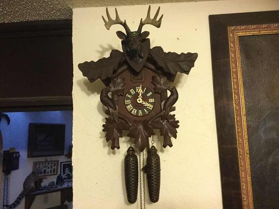 Reloj Cucú Aleman Cuerda Madera Grande