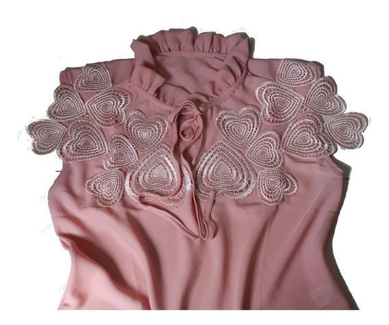 Camisa Regata Feminina Com Renda Blusa