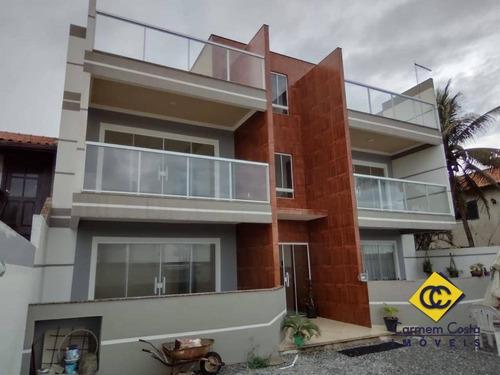 Oportunidade!! Apartamento Cobertura Em Frente A Praia De Costazul Próximo De Comércio No Bairro Costazul - Rio Das Ostras/ Rj. - Co0048