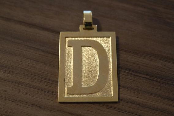 Pingente Letra D Banhado A Ouro 18k