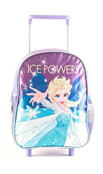 Mochila Frozen Carro 12 Ice Cierre Rosa Original