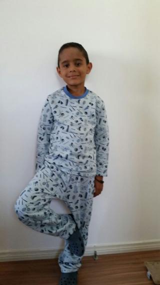 Pijama Infantil Flanelado Moletinho Calça Comprida Blusa