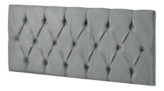 Cabeceira de cama box LH Móveis Intense Casal 140cm x 55cm Camurça cinza