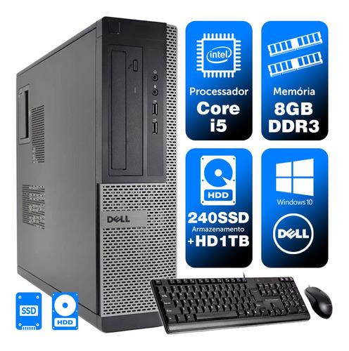 Imagem 1 de 5 de Micro Escritório Dell Int I5 2g 8gb Ssd240+1tb Brinde