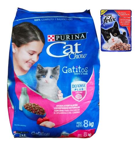 Alimento Gatitos Purina Cat Chow 8 Kg + Regalo + Envío