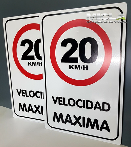 Imagen 1 de 3 de Cartel Velocidad Máxima 20  Chapa N°16