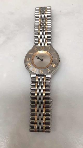 Relógio Cartier Must 21 Original Aço E Ouro