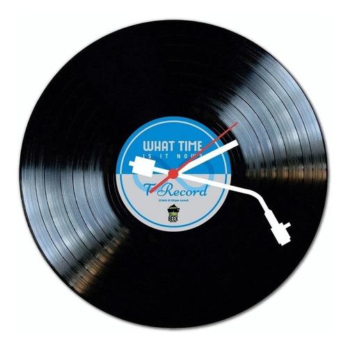 Relógio De Parede Disco De Vinil Azul Beek Geek's Rp-avinil