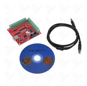Kit Placa Interface Controladora Usb Cnc4 Eixos P/ Mach3 R08