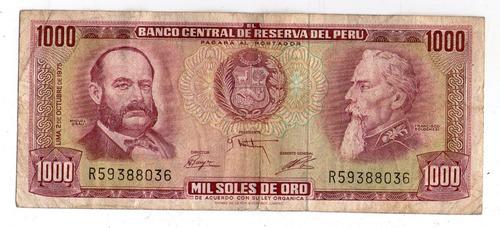 Peru Billete 1000 Soles De Oro 1975 P#111 - Argentvs