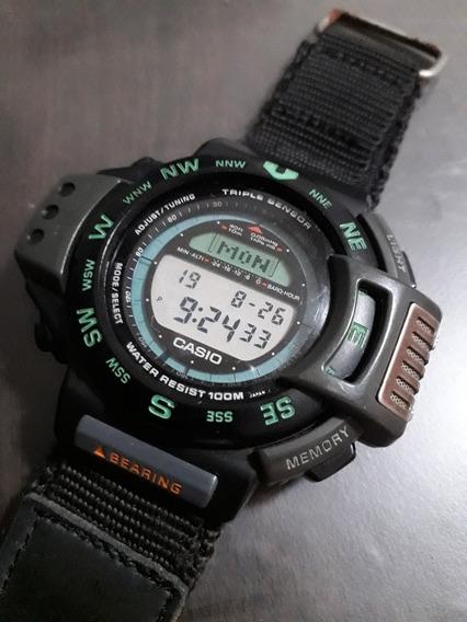 Reloj Casio Vintage De Coleccion 3 Triple Sensor 1170atc1000