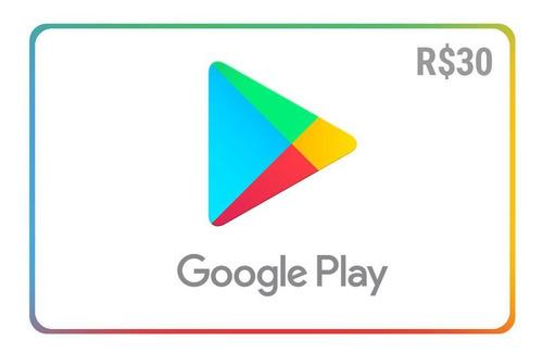 Gift Card Google Play R$30