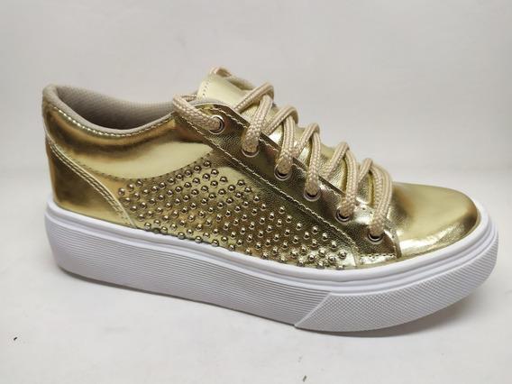 Zapatilla Sneakers Con Mini Tachas Invierno 2020