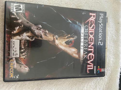 Jogo Resident Evil Outbreak File 2 Ps2 Playstation Original