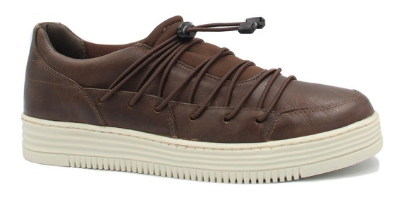 Sapatênis Zariff Shoes Em Couro Marrom Pd191