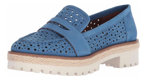 Nine West Talla 38m Us Color Azul Nubuck