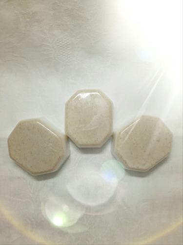3 Sabonetes De Argila Branca - Clareador E Esfoliante