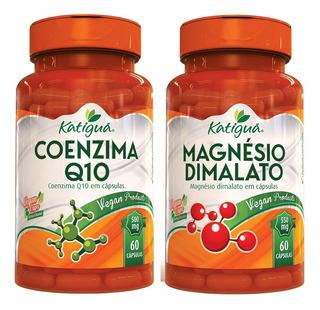 Magnésio Dimalato 550mg + Coq10 Coenzima Q10 60 Caps Katiguá