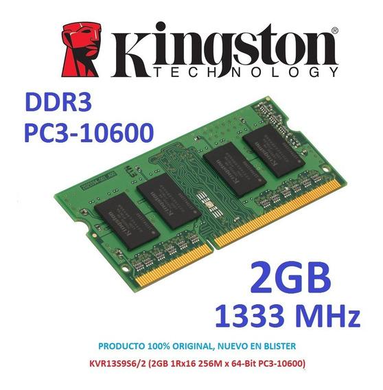 Memoria 2gb Ddr3 1333 Mhz Kingston Pc3-10600 Sodimm Laptop