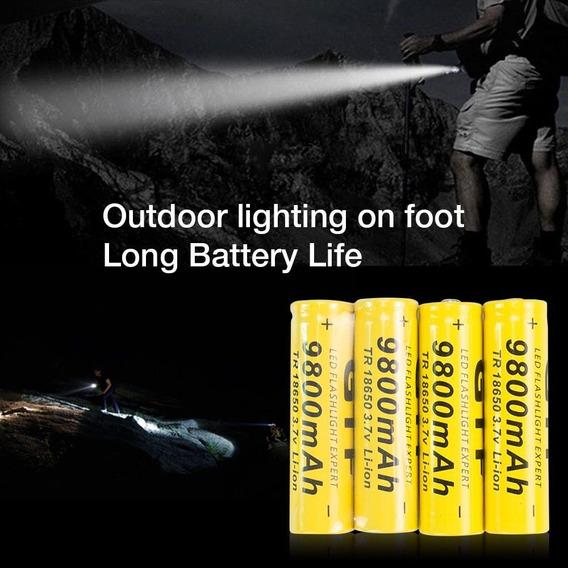10 Baterias Gtf 18650 Recarregável 3.7 V 9800ma