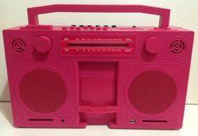 Radio Imaginarium Rosa Retrô Boombox Usb Am/fm / Lindo!
