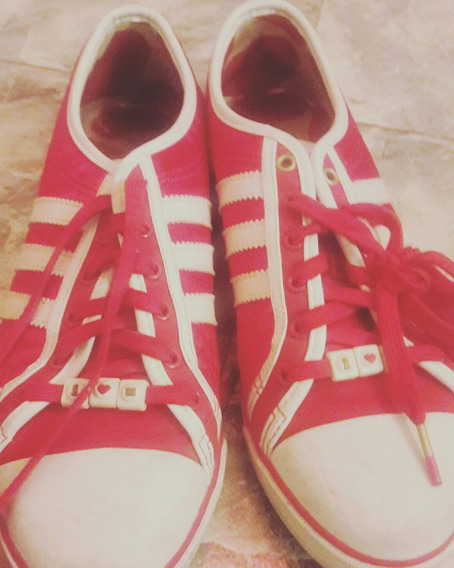 Zapatillas adidas Original Color Rojo Y Blanco