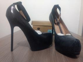 Sapato Datelli Preto/cinza Social - Novo Na Caixa