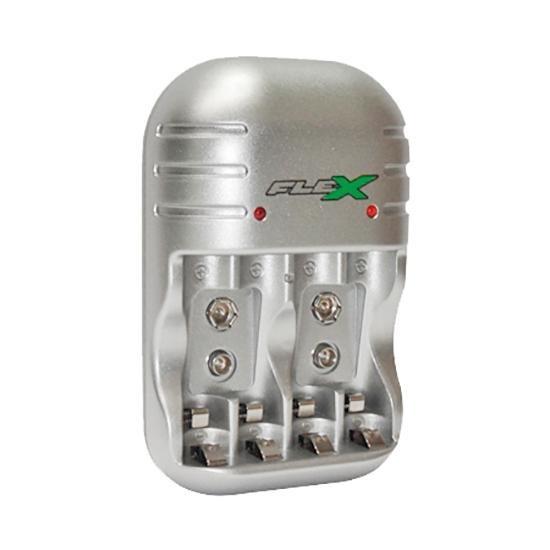Carregador Universal Bivolt Para 4 Pilhas Aa Aaa E 2 9v