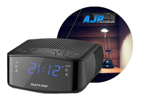 Rádio Relógio Digital 3w Rms C/ Display Lançamento - Sp288