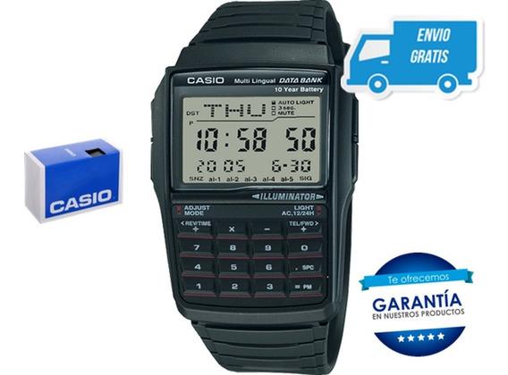 Reloj Calculadora Casio Dbc32 -1a Data Bank Negro Envio Full