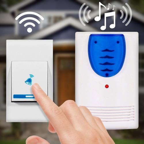 Campainha De Tomada Residencial Sem Fio 32 Toques Wireless