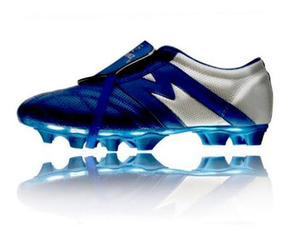 Zapato Futbol Manriquez Mithos Plus Sx Azul Rey / Plata