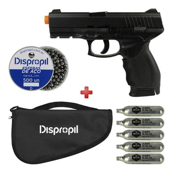 Pistola 4.5 Gás Co2 Kwc 24/7 + Munição Recarga E Transporte