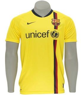 Camisa Nike Barcelona - 2008-2009 - Amarela - Tam. G