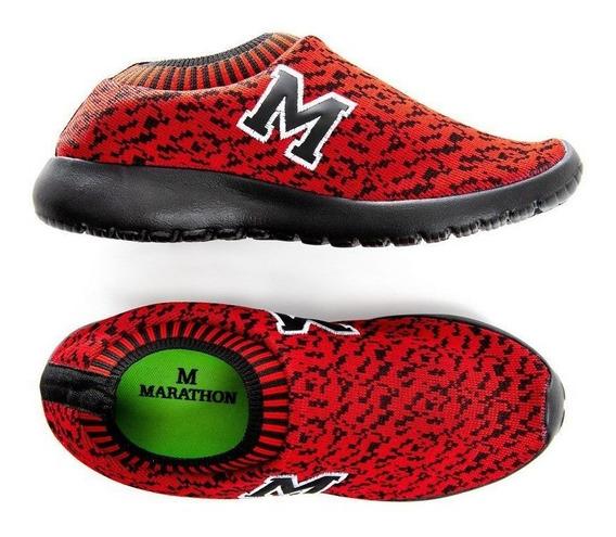 Tenis Marathon Anfibio Confort Racer Vermelho/pto