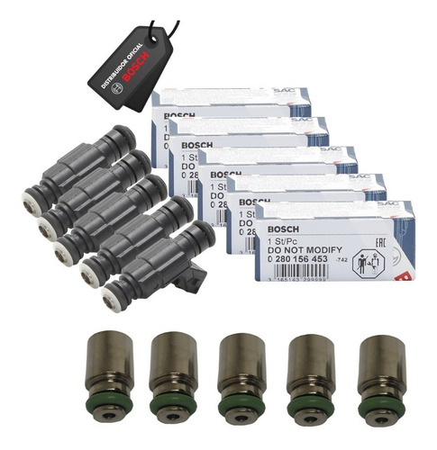 Jogo 5 Bicos Bosch 65lbs 0280156453 + Jogo Prolongador 29mm