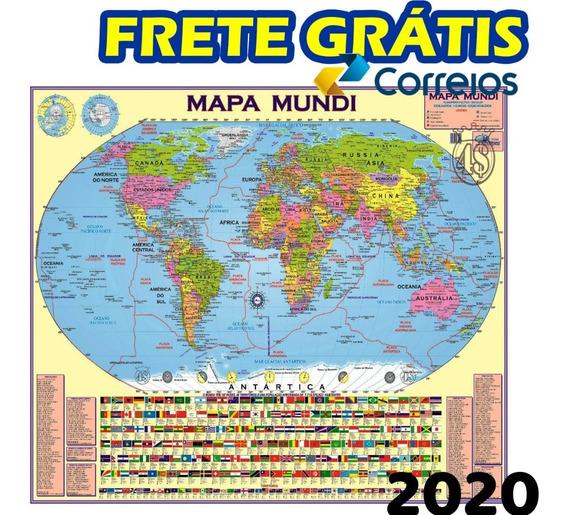 Mapa Mundi Politico Atualizado Gigante 2020 + Frete Grátis!