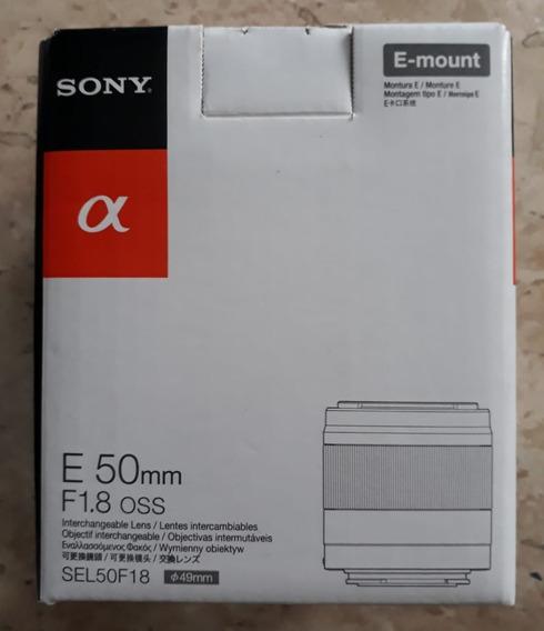 Lente Aps-c Sony Mirrorless E 50mm F/1.8 Oss
